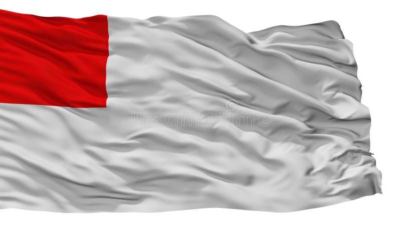 Bandeira da cidade de Bilbao, Espanha, isolada no fundo branco ilustração do vetor