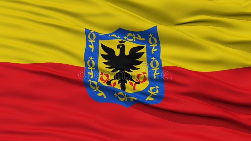 Bandeira da cidade de Bogotá do close up, Colômbia ilustração royalty free