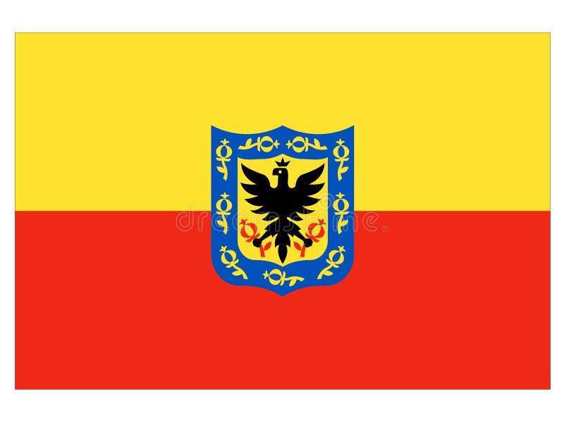 Bandeira da cidade de Bogotá ilustração stock