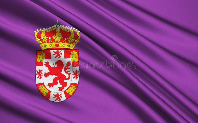 Bandeira da cidade de Cadiz da Espanha foto de stock royalty free