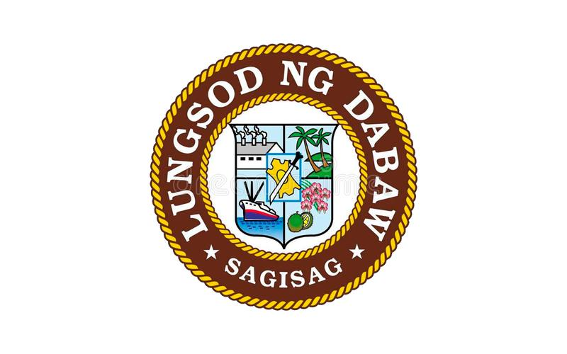 Bandeira da cidade de Davao, Filipinas ilustração do vetor