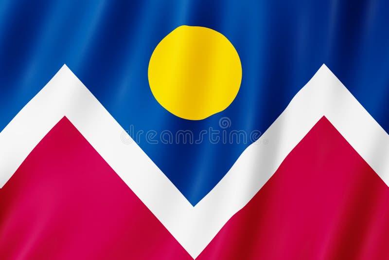 Bandeira da cidade de Denver, Colorado E.U. ilustração stock
