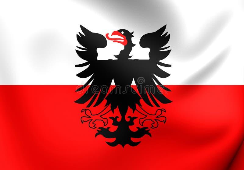 Bandeira da cidade de Deventer, Países Baixos ilustração do vetor