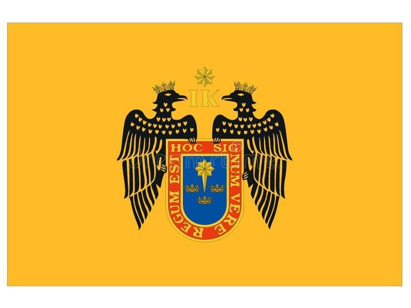 Bandeira da cidade de Lima ilustração stock
