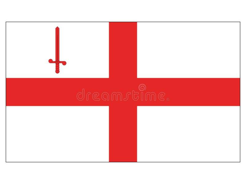 Bandeira da cidade de Londres ilustração royalty free