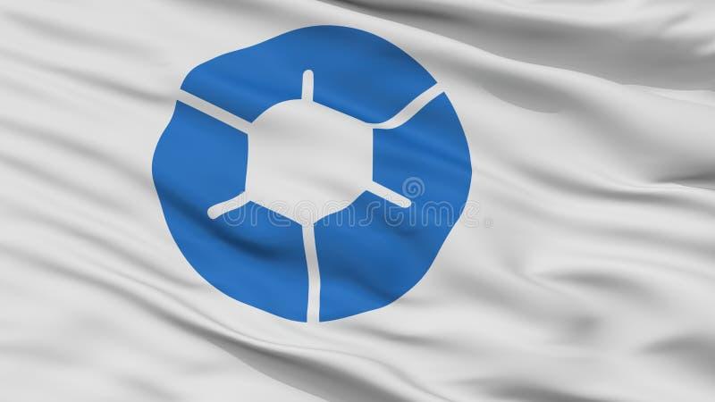 Bandeira da cidade de Marugame, Japão, Kagawa Prefecture, opinião do close up foto de stock