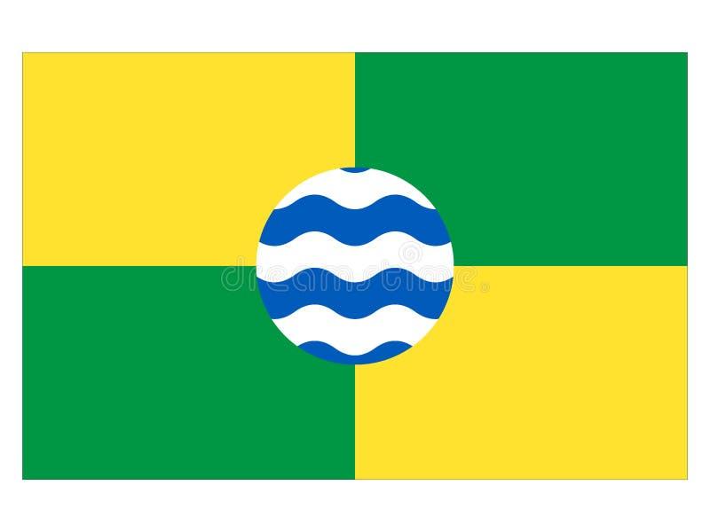 Bandeira da cidade de Nairobi ilustração stock