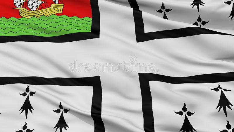 Bandeira da cidade de Nantes, França, opinião do close up ilustração stock