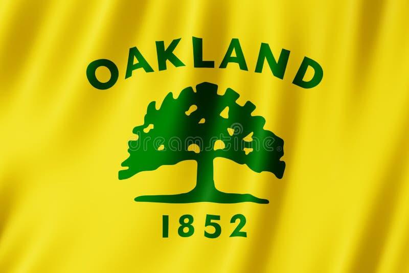 Bandeira da cidade de Oakland, Califórnia E.U. ilustração royalty free