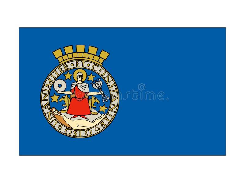 Bandeira da cidade de Oslo ilustração royalty free