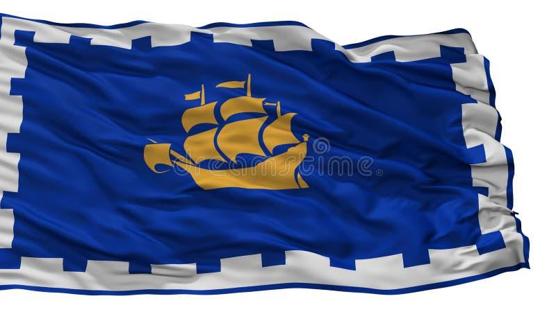 Bandeira da cidade de Cidade de Quebec, Canadá, isolado no fundo branco ilustração do vetor