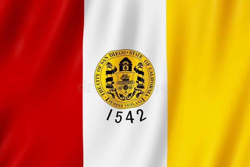 Bandeira da cidade de San Diego, Califórnia E.U. ilustração royalty free