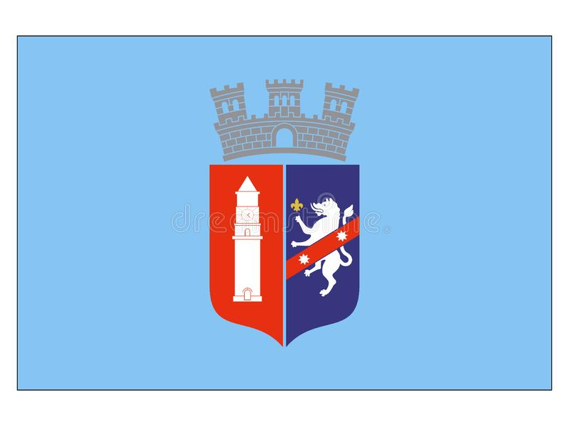 Bandeira da cidade de Tirana ilustração do vetor