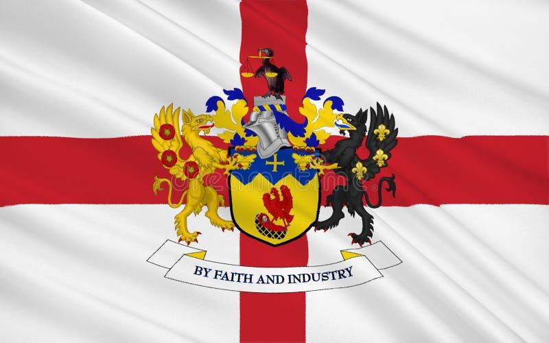 A bandeira da cidade metropolitana de Knowsley é um borou metropolitano fotos de stock royalty free
