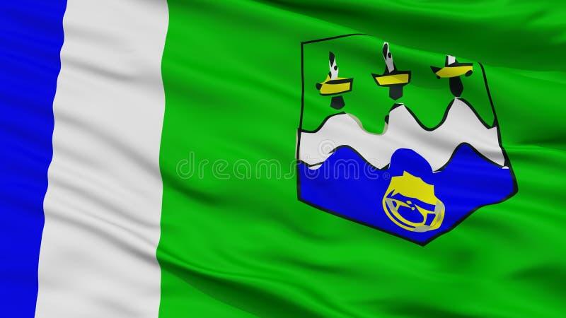 Bandeira da cidade da província de Larache, Marrocos, opinião do close up fotos de stock