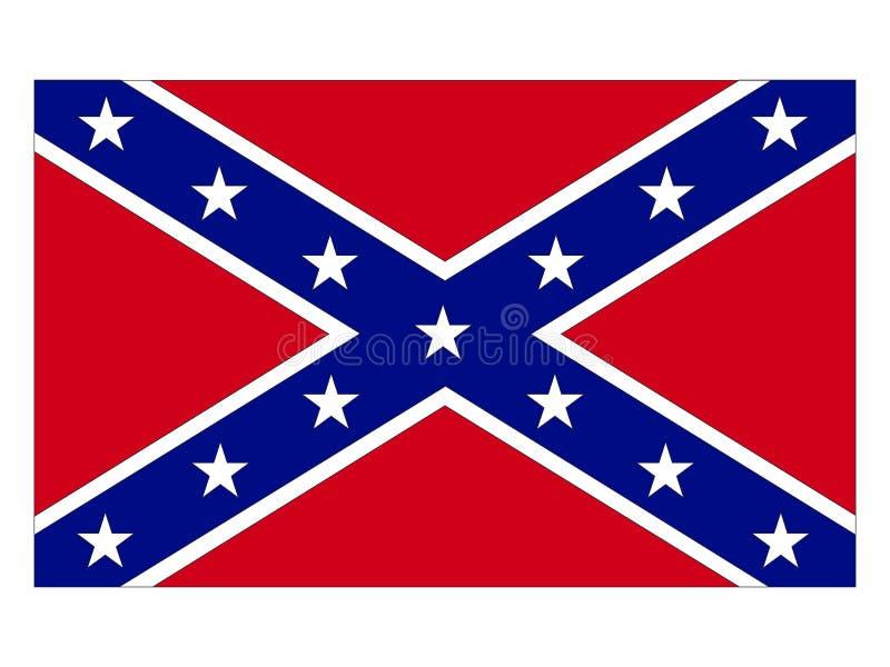 Bandeira da confederação ilustração royalty free