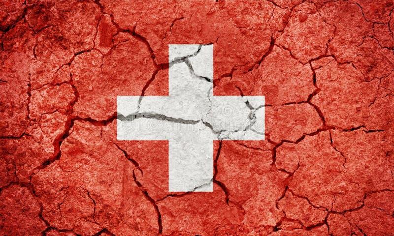 Bandeira da confederação suíça ilustração stock
