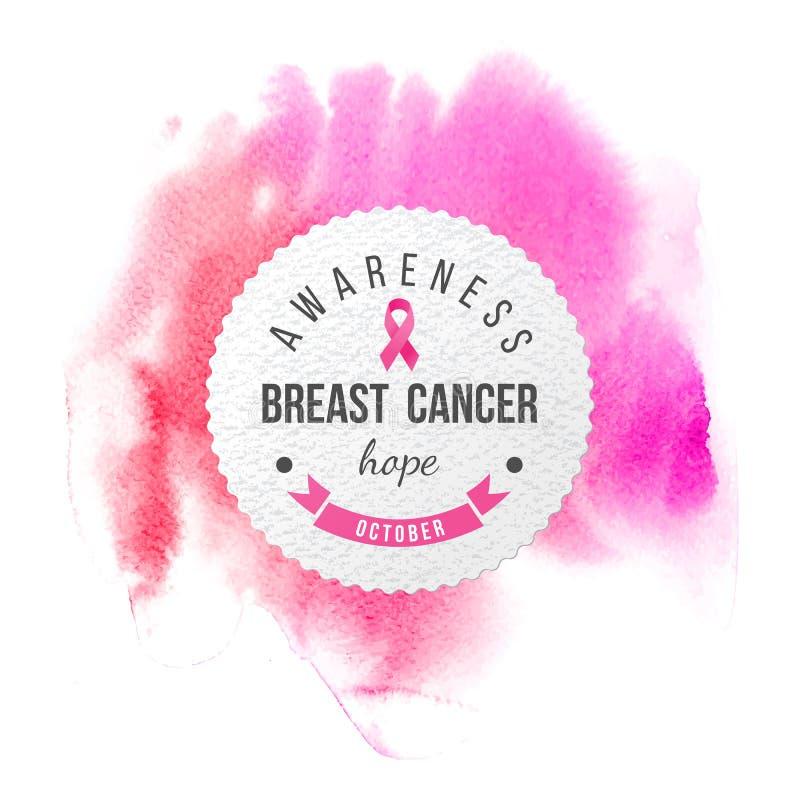 Bandeira da conscientização do câncer da mama ilustração do vetor