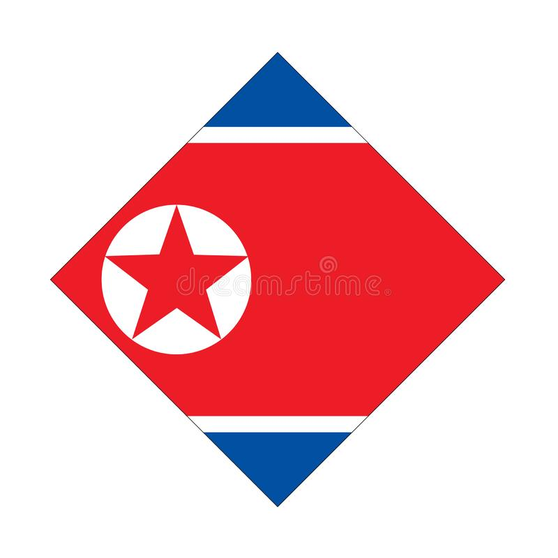 Bandeira da Coreia do Norte - Democratic Peoples Republic of Korea ilustração stock