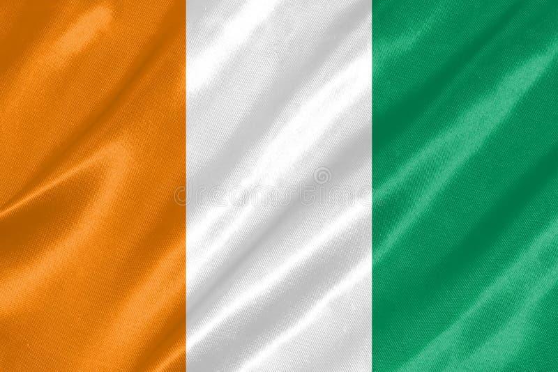 Bandeira da Costa do Marfim fotografia de stock