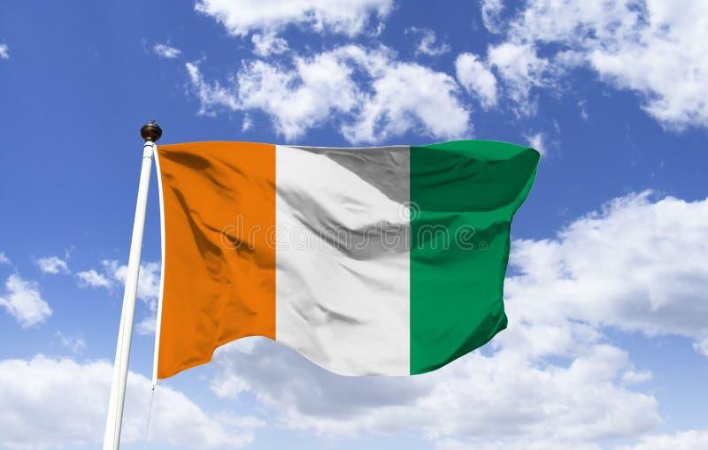 Bandeira da Costa do Marfim, modelo foto de stock royalty free