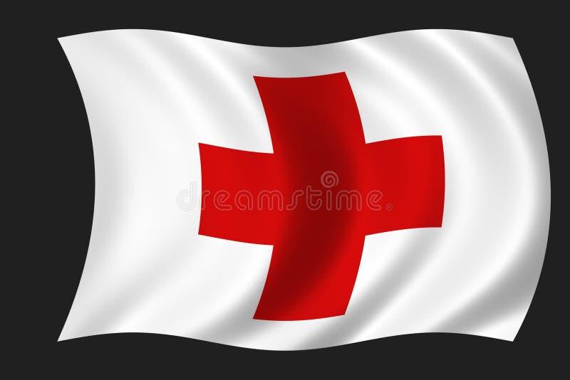 Bandeira da cruz vermelha ilustração stock