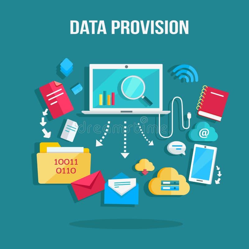 Bandeira da disposição dos dados ilustração stock