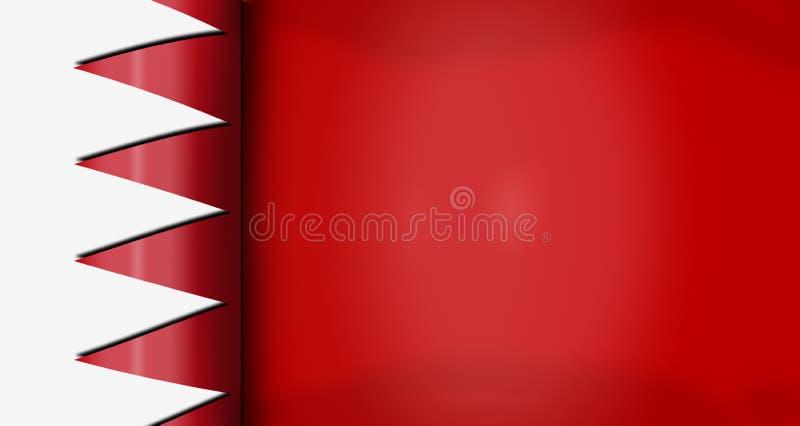 Bandeira da bandeira do rolo de Barém para o fundo imagem de stock royalty free