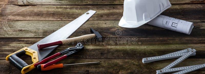 Bandeira da engrenagem de utilização de ferramentas da casa para a manutenção, a habilidade e a reparação imagem de stock royalty free