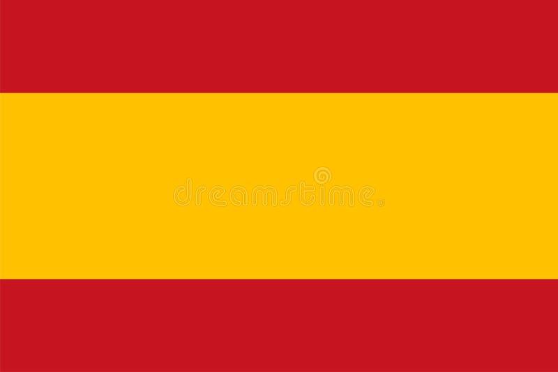 Bandeira da Espanha ilustração royalty free