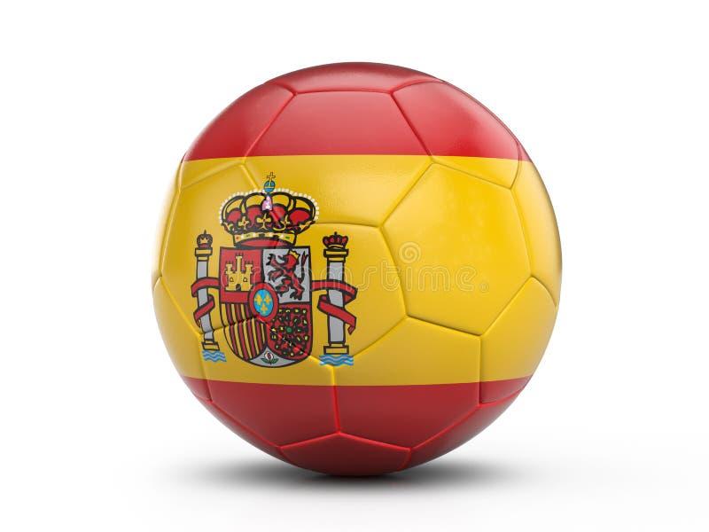 Bandeira da Espanha da bola de futebol ilustração royalty free