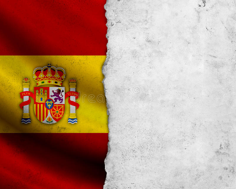 Bandeira da Espanha do Grunge imagens de stock