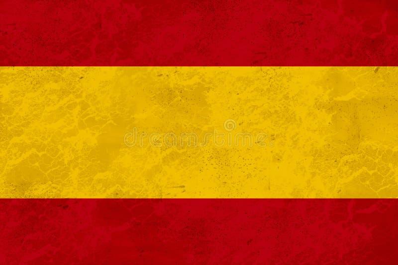 Bandeira da Espanha - textura de mármore