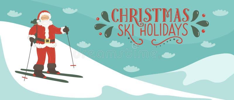 Bandeira da estância de esqui ilustração stock