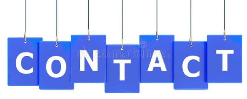 Bandeira da etiqueta do contato ilustração stock