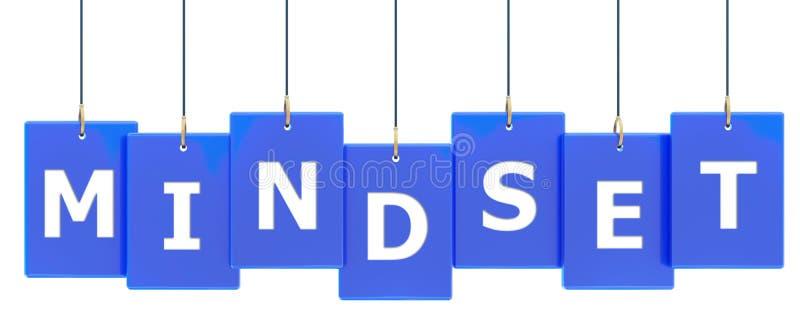 Bandeira da etiqueta do Mindset ilustração stock