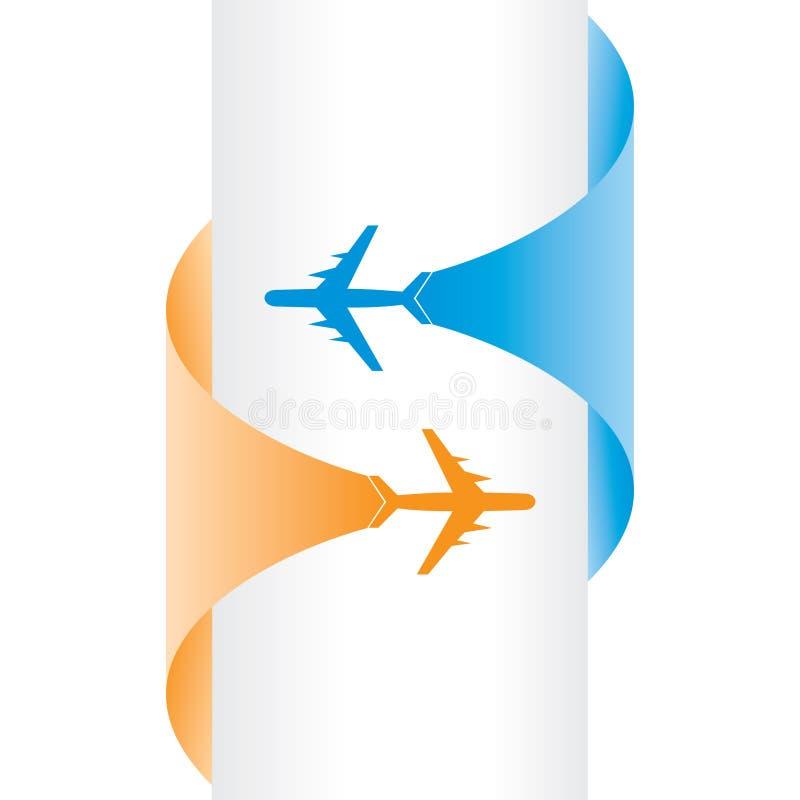 Bandeira da excursão e do turismo ilustração royalty free