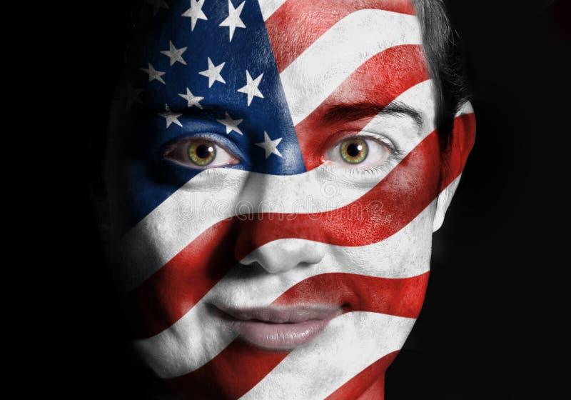 Bandeira da face dos EUA imagens de stock royalty free