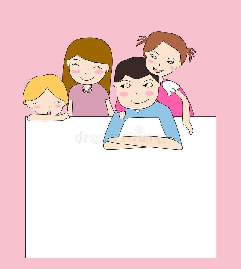 Bandeira da família ilustração stock