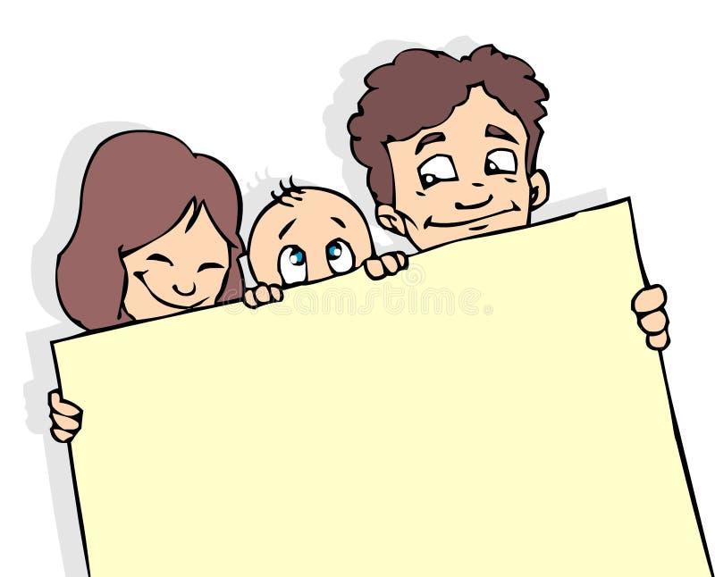Bandeira da família ilustração do vetor