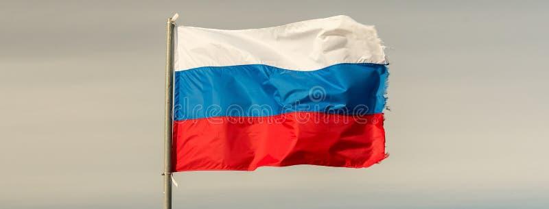 Bandeira da Federação Russa imagem de stock