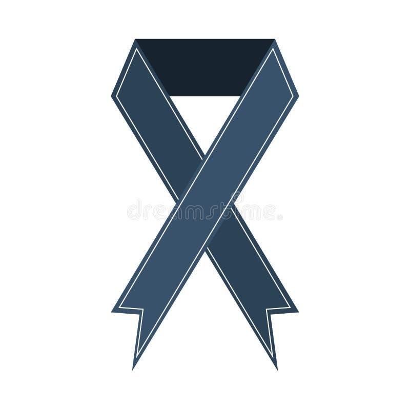A bandeira da fita comemora o ícone cinzento do projeto ilustração stock