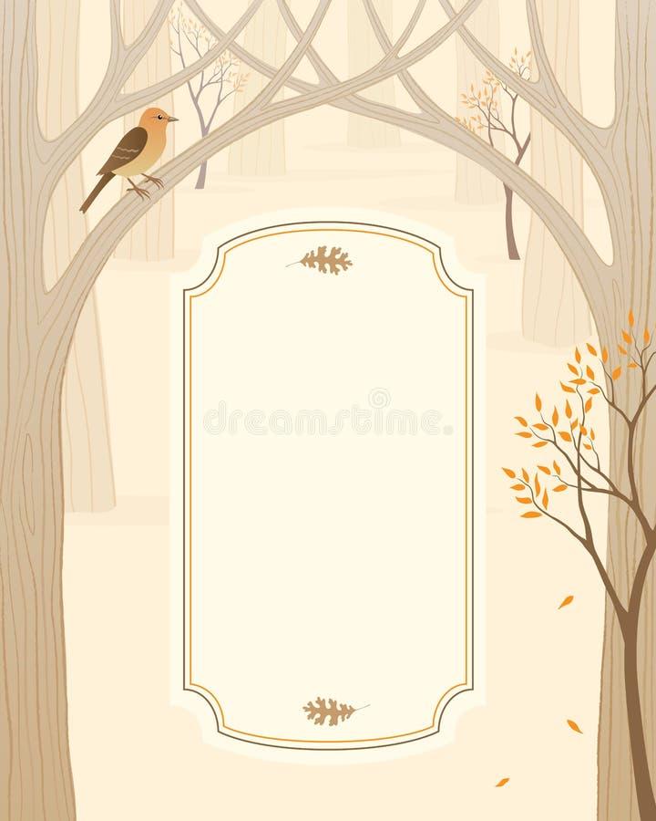 Bandeira da floresta do outono ilustração stock