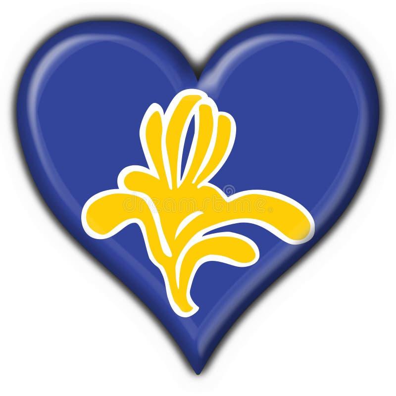 Bandeira da forma do coração de Bruxelas (Bélgica) ilustração do vetor