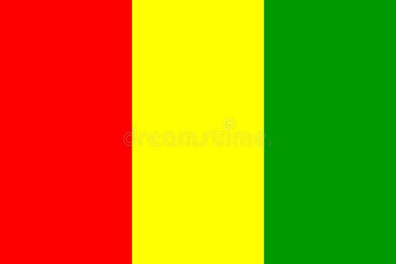 Bandeira da Guiné ilustração royalty free