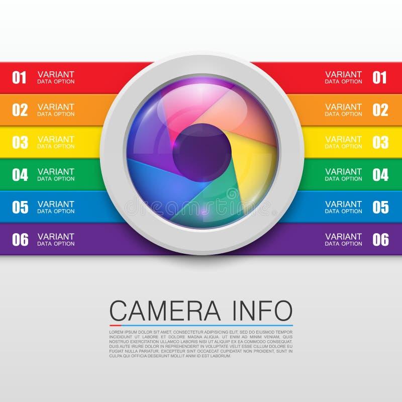 Bandeira da informação da câmera ilustração do vetor