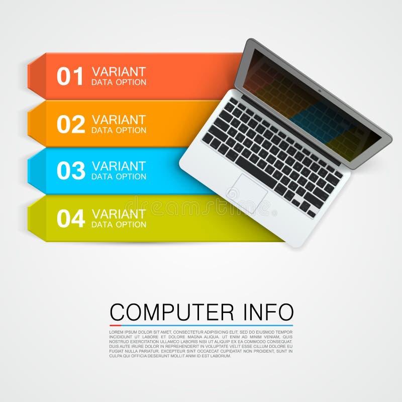 Bandeira da informação do computador ilustração do vetor