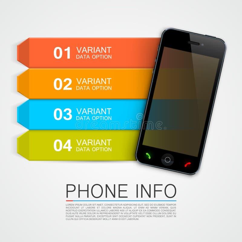 Bandeira da informação do telefone ilustração do vetor