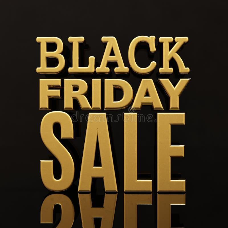 Bandeira da inscrição do ouro da venda de Black Friday imagens de stock royalty free