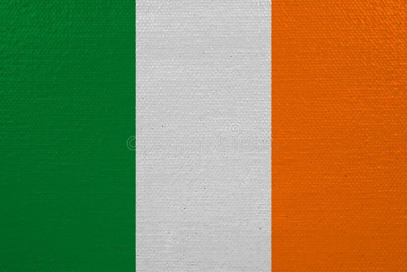 Bandeira da Irlanda na lona ilustração stock